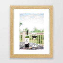 Wine on the Patio Framed Art Print