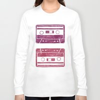 cassette Long Sleeve T-shirts featuring Cassette by Brita A