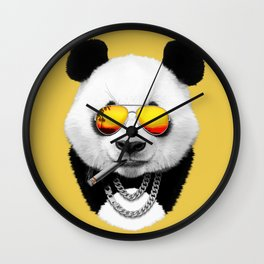 Summer Panda Wall Clock