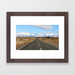 White Cap Journey Framed Art Print