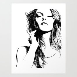 Vanessa Paradis II Art Print