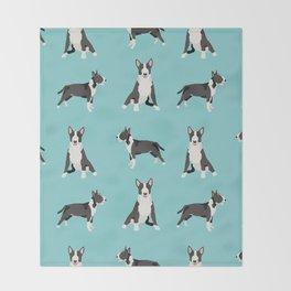 Bull Terrier dog breed pet friendly gifts terriers bull terriers Throw Blanket