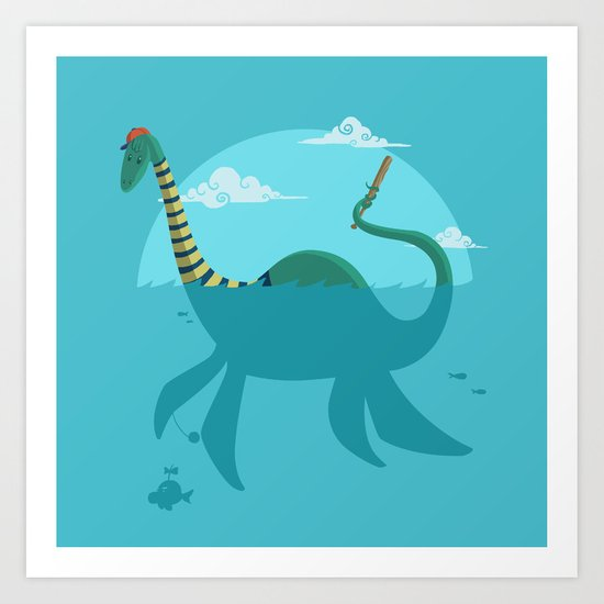 "Loch""Ness"" Monster Art Print"