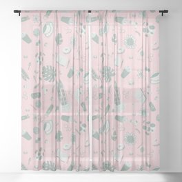 Self Care - The works Sheer Curtain