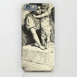 Gustave Doré - Spain (1874): Citizens of the suburb of Macarena, Seville iPhone Case