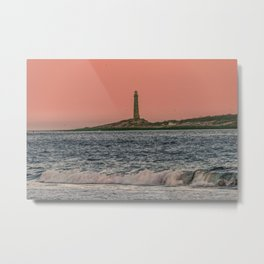 Pink sky and the Thacher's Islands north tower Metal Print