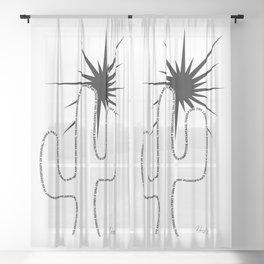The Cactus Sheer Curtain