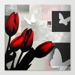 Assorted Squares, Flowers & Butterflies Canvas Print
