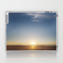 Beach Walk at Sunrise Laptop & iPad Skin