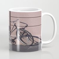 1984 Mugs featuring PARIS BIKE 1984 by Bruce Stanfield