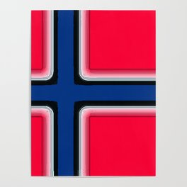 Fancy Flag: Norway Poster
