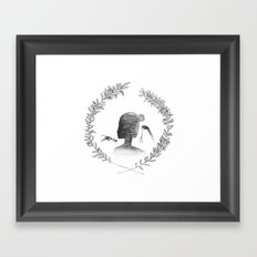 Watching the Time Framed Art Print