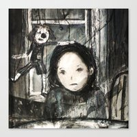 child Canvas Prints featuring child by woman