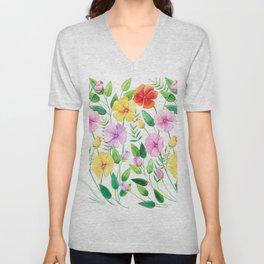 Flowers (collage) Unisex V-Neck
