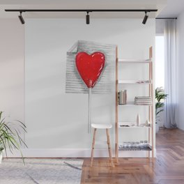 Lollipop Heart Wall Mural