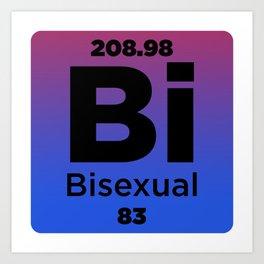 Bisexual Element Art Print