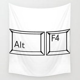 Alt F4 Buttons Wall Tapestry