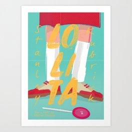 Lolita, Stanley Kubrick movie poster, Vladimir Nabokov, book cover, Loleeta Art Print