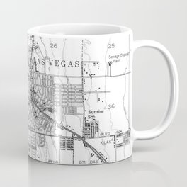 Vintage Map of Las Vegas Nevada (1952) BW Coffee Mug
