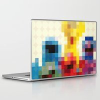 sesame street Laptop & iPad Skins featuring Sesame by Glen Gould
