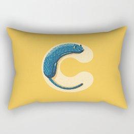 C for Cat Rectangular Pillow