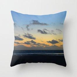 Sunset at Camber Sands Throw Pillow