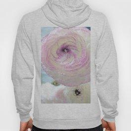 WHITE RANUNCULUS FLOWER Hoody
