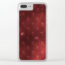 Scorpio Nebula Pattern Clear iPhone Case