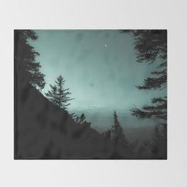 Moonlight Poem Throw Blanket