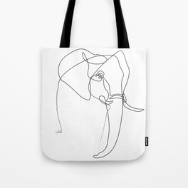 Elephant line Tote Bag