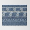 Mud Cloth Geometric Stripe Navy by beckybailey1