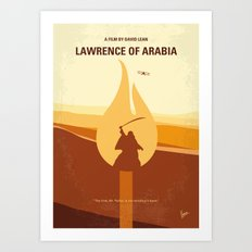 No772 My Lawrence of Arabia minimal movie poster Art Print