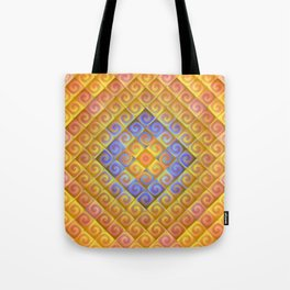 Spirals in Squares Tote Bag