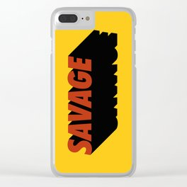 Savage 08 Clear iPhone Case