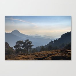 Blue dreams III. Misty mountains Canvas Print