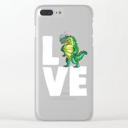 Love Crocodile Alligator Reptile Animal Clear iPhone Case