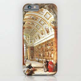 Giovanni Paolo Pannini Masterpiece Interior of a Picture Gallery with the Collection of theCardinal iPhone Case