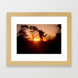A glorious embrace Framed Art Print