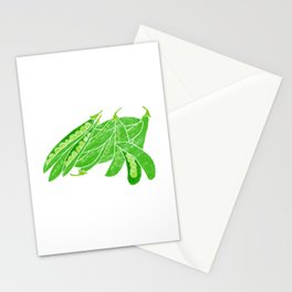 Illustration of fresh snow peas Stationery Cards