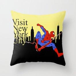 Visit New York City Throw Pillow