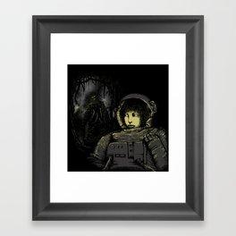 Space Horror Framed Art Print
