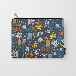 Seaweed and Jellyfish Carry-All Pouch
