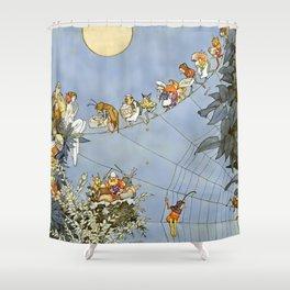 """The Fairy's Birthday"" Illustration by W Heath Robinson Shower Curtain"