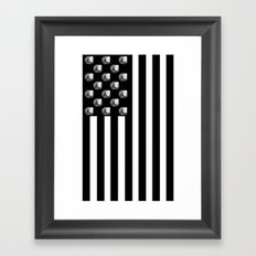 US MiniFigure Flag - Vertical Framed Art Print