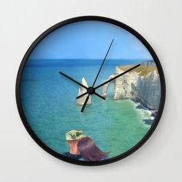 Love in Étretat Wall Clock