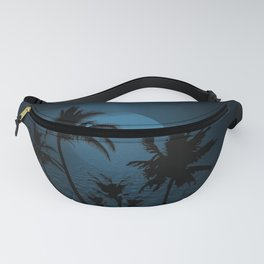 Twilight Moon on Exotic Tropical Island Fanny Pack