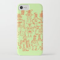 robots iPhone & iPod Cases featuring Robots! by Paul McCreery
