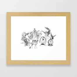 Ink Thoughts Six Framed Art Print