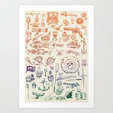 all hands on deck Art Print
