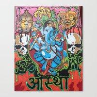 hindu Canvas Prints featuring Hindu God by Vic Piano